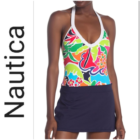 🆕️ NAUTICA Cocktails on the Bow Halter Swimsuit!